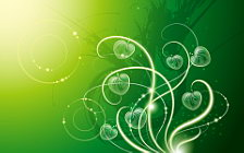 Green abstract wide wallpapers