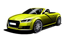 Audi TT Roadster car sketch wide wallpapers and HD wallpapers