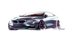 BMW 6-series Gran Turismo car sketch wide wallpapers and HD wallpapers