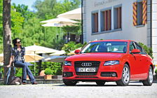 Audi and Girl wide wallpapers and HD wallpapers