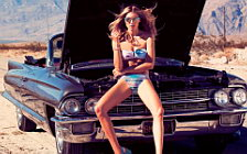 Cadillac and Girl wide wallpapers and HD wallpapers