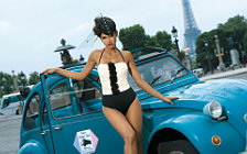 Citroen and Girl wide wallpapers and HD wallpapers