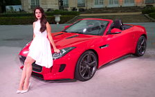 Jaguar and Girl wide wallpapers and HD wallpapers