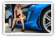 Lamborghini and Girls desktop wallpapers