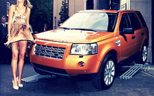 Land Rover and Girl wide wallpapers and HD wallpapers