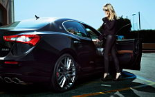 Maserati and Girl wide wallpapers and HD wallpapers