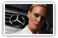 Mercedes-Benz and Girls desktop wallpapers