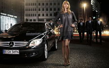 Mercedes-Benz and Girl wide wallpapers and HD wallpapers