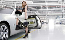 Rolls-Royce and Girl wide wallpapers and HD wallpapers