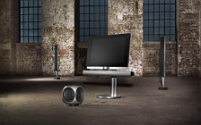 Bang & Olufsen BeoVision 7 40 with BeoLab 7 2 and BeoLab 8000 and BeoLab 2 sub woofer wide wallpapers and HD wallpapers