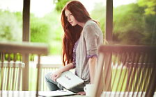 Girl and Notebook wide wallpapers and HD wallpapers